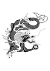 Målarbild kinesisk drake