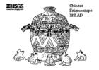 Målarbild kinesiskt seismoskop Ã¥r 132