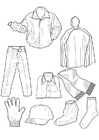 Målarbild kläder