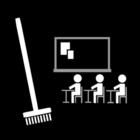 Målarbild klassrum - ordning