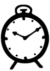 Målarbild klocka