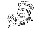Målarbild kock