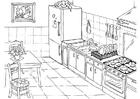 Målarbild kök