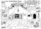 Målarbild köket pÃ¥ slottet Skipton
