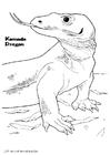 Målarbild Komodovaran