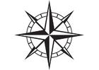 Målarbild kompass