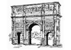Målarbild Konstantins triumfbÃ¥ge, Rom