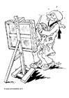Målarbild Konstnär