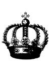 Målarbild krona