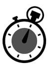 Målarbild kronometerklocka