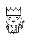 Målarbild kung