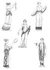 Målarbild kvinnor i antikens Grekland