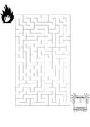 Målarbild labyrint - brandkÃ¥r