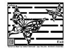 Målarbild labyrint - fjäril