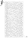Målarbild labyrint - fotboll