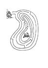 Målarbild labyrint - groda