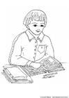 Målarbild läsa