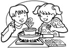 Målarbild laga mat