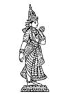 Målarbild Lakshmi