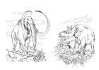 Målarbild lÃ¥nghÃ¥rig mammut