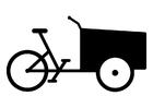 Målarbild last cykel