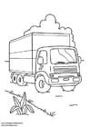 Målarbild lastbil
