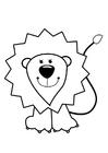 Målarbild lejon