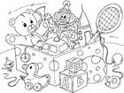 Målarbild leksaker