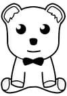 Målarbild leksaksbjörn