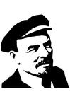 Målarbild Lenin