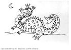 Målarbild liten drake