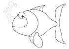Målarbild liten fisk