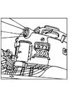 Målarbild lokomotiv