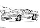 Målarbild Lotus Esprit