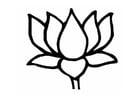 Målarbild lotusblomma