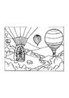 Målarbild luftballong