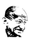 Målarbild Mahatma Gandhi
