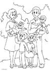 Målarbild mammas nya familj