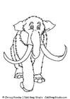 Målarbild mammut