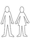 Målarbild man och kvinna
