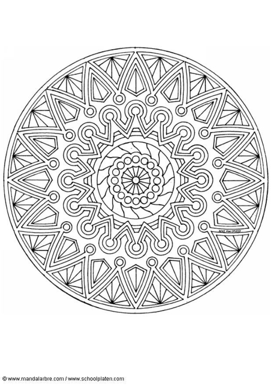 Vlinder Volwassen Kleurplaat M 229 Larbild Mandala 1702i Skriv Ut Gratis Bilder