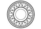 Målarbild mandala1