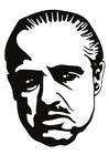 Målarbild Marlon Brando