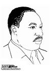 Målarbild Martin Luther King Jr
