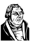 Målarbild Martin Luther