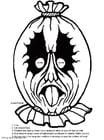 Målarbild Mask för fÃ¥gelskrämma