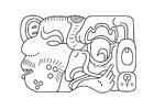 Målarbild Maya konst