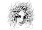 Målarbild Medusa