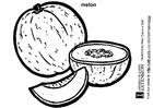 Målarbild Melon