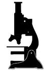 Målarbild mikroskop